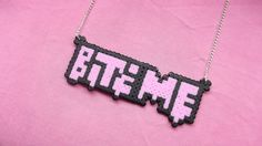 Bite Me Hama Bead Necklace by obscurepastels on Etsy, $10.00