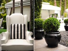 black and white outside my favorite goes well with plants and dark pots. Can't wait to have my own house!