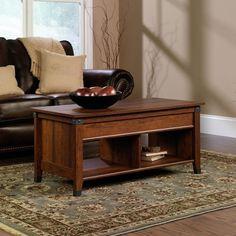 Sauder Carson Forge Lift Top Coffee Table, Washington Cherry Finish Sauder  Http:/