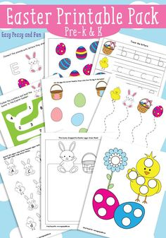 Easter Printables for Kids - Easy Peasy and Fun activities for kids.
