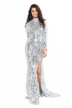 A&N curve saskia sequin high neck long sleeve backless gown - silver Formal Dresses Long Elegant, Formal Dresses For Teens, Short Dresses, Sequin Gown, Sequin Fabric, Curve Prom Dresses, Backless Gown, Silver Dress, Silver Sequin
