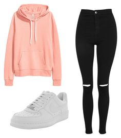 """Untitled #8"" by leonarosado on Polyvore featuring H&M, Topshop and NIKE"