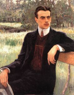 Nikolay Bogdanov-Belsky (1868 – 1945). Portrait of N Yusupov, 1890. [Pinned 27-ix-2015]