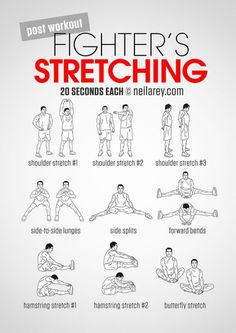 Here's why Stretching and Healthy Snacks are the Best Cool-Down Combo Fighters Stretching cool down stretches 300 Workout, Workout Pics, Post Workout, Fun Workouts, At Home Workouts, Body Workouts, Mma Workout Routine, Chair Workout, Studio Workouts