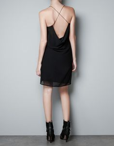 DRAPED STRAPPY DRESS - Dresses - Woman - ZARA United States