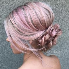 Braided chignon by Michelle Stevenson