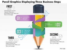 0814 business consulting diagram pencil graphics displaying three business steps powerpoint slide template Slide01