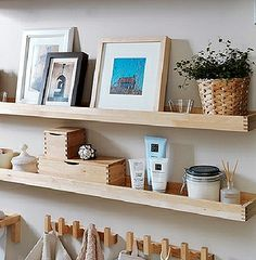 IKEA MOLGER Shelves & Hooks |  really a shame they don't seem to have them anymore, this'd be great for the bathroom.