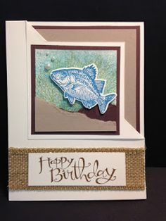 By the Tide, Masculine Birthday  Card, Corner Flip Fold Technique, Stampin' Up!, Rubber Stamping, Handmade Cards, Stamping Tutorial