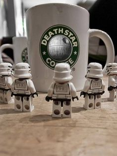 Stormtroopers love their coffee.