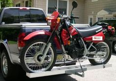 Motorcycle Carrier Rack With Ramp, attaches to trailer hitch