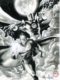 Doctor Fate and Starman by Dave Wachter, in michael dunne's JSA by Dave Wachter Comic Art Gallery Room Comic Books Art, Comic Art, Book Art, Teen Titans Starfire, Dr Fate, Justice Society Of America, Justice League Unlimited, Hero Time, Superhero Villains