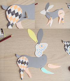 Lucille {m} - DIY  lapin en papier