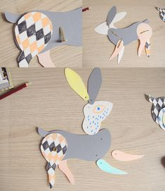 DIY:  lapin en papier