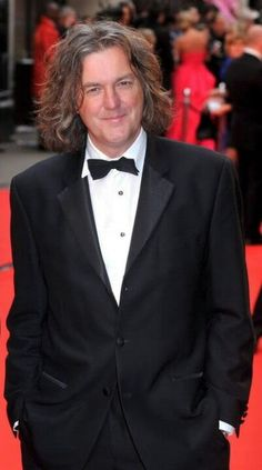 James may looking good in a suit.