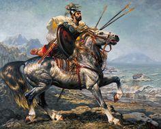 The Numidian horseman (Le Cavalier Numide), by Hocine Ziani