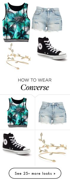 """Summer in Converse"" by silverbeauty06 on Polyvore featuring BLANKNYC and Converse"