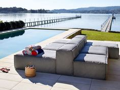 Eco Outdoor Ord modular setting in outdoor fabric Basics. Outdoor furniture…