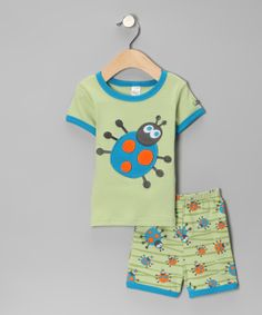 Take a look at this Green & Blue Bug Tee & Shorts - Infant & Toddler on zulily today!