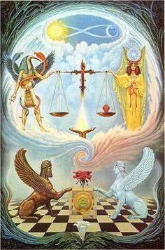 Libra Zodiac Sign Artwork, Artist: Johfra Bosschart   #libra #zodiac #astrology