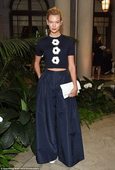 Fellow front row favorite: Model Karlie Kloss, 24, joined Nicky on the front…