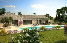 Michel et Rémi Rippert - Promoteurs Alpilles Provence Luberon Provence, Dream Home Design, House Design, House By The Sea, Happy House, Bungalow, Architecture Design, Farmhouse, Michel