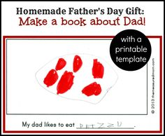 Homemade Father's Day Gift from Kids: A Book about Dad (with free printable) from The Measured Mom