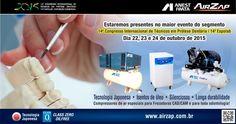 14ª Expolab - Congresso Internacional de Técnico de Próteses Odontológicas | Eventos | AirZap - Anest Iwata | Compressores, bombas de vácuo, máquinas e ferramentas