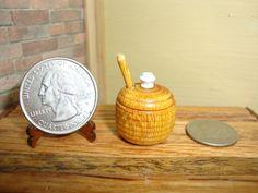 Dollhouse Miniature 1:12 Cookware & Tableware Honey Pot Handcrafted OOAK #P4 #HandcraftedMiniaturesbyOppi