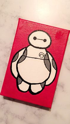 DIY Baymax canvas painting. Inspired from Disney's Big Hero 6.
