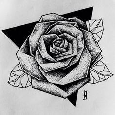 #geometric #rose #flowers #ink #drawing #newdesign #newtattoo #blacktattoo #instablack #dotwork #dots #iblackwork #girltattoo #mb #marcinbrzezinski #stronghold #strongholdtattoo #art #london #love #blackworkers #custom #customtattoo #girl #gemetrictattoo #triangle #forarmtattoo