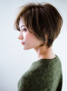 大人かっこいい×小顔×ショートボブ(髪型ショートヘア) Short Hair Cuts, Short Hair Styles, Hair Beauty, Denim, Beautiful, Hairstyles, Short Hair, Short Cropped Hairstyles, Bob Styles