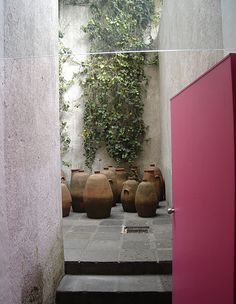 AD Classics: Casa Barragan / Luis Barragan. Love the pink door. Barragan was the Master of Color!