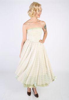 RESERVED // 1950s Dress // vintage 50s party by dethrosevintage, $154.00