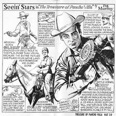 Shelley Winters, Rory Calhoun, and Gilbert Roland in The Treasure of Pancho Villa (1955) - Promotional Artwork for Newspaper Use.