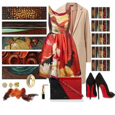 Burnt Orange by deaniefrank on Polyvore featuring moda, Oscar de la Renta, Christian Louboutin, Paul Smith, Marco Bicego and Allurez