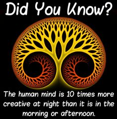 When is your mind most creative?