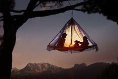 RV And Camping. Great Ideas To Think About Before Your Camping Trip. For many, camping provides a relaxing way to reconnect with the natural world. If camping is something that you want to do, then you need to have some idea Glamping, Hanging Tent, Suspended Tent, Tree Camping, Outdoor Camping, Camping Outdoors, Family Camping, Tree Tent, Tree Canopy