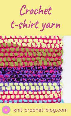 Crochet a rug, bag or cushion cover using t-shirt yarn  #crochet #crochettutorial #tshirtyarn