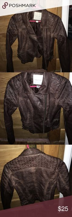 Leather Jacket Brown small leather jacket Maurices Jackets & Coats