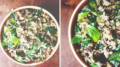Recipe of the Week: Quinoa Salad with kale, raisins, pine nuts, parmesan... Can be a kitchen sink salad.
