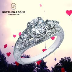 just #SayYes to this romantic 14K White Gold Diamond Engagement ring.  This lovely #engagement ring features a round center #diamond with sparkling shared prong set and bead set diamonds set in the band.  Visit your local #GottliebandSons retailer and ask for style number 28483. http://www.gottlieb-sons.com/product/detail/28483