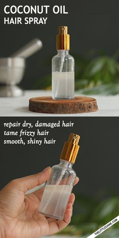 COCONUT OIL HAIR SPRAY to repair dry damaged hair