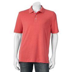 Big & Tall Croft & Barrow® Signature Classic-Fit Pocket Polo, Men's, Size: Xl Tall, Dark Pink