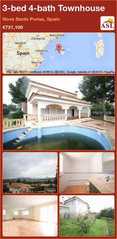 3-bed 4-bath Townhouse in Nova Santa Ponsa, Spain ►€731,100 #PropertyForSaleInSpain