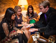 Performing at a wedding  in Surrey, Roger Lapin one of the finest Wedding Magicians in Surrey