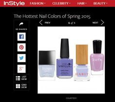 Habit Cosmetics Nail Polish Featured in InStyle.com Slideshow, March 2015