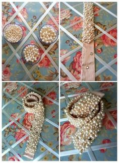 Pearl Embroidery, Tambour Embroidery, Embroidery Fashion, Sewing Hacks, Sewing Projects, Diy Belts, Diy Accessoires, Bridal Sash, Fabric Jewelry
