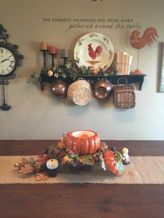 My Thanksgiving table scape
