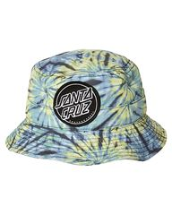 SANTA CRUZ BIG DOT BUCKET HAT - GRUNGE TIE DYE on http://www.surfstitch.com